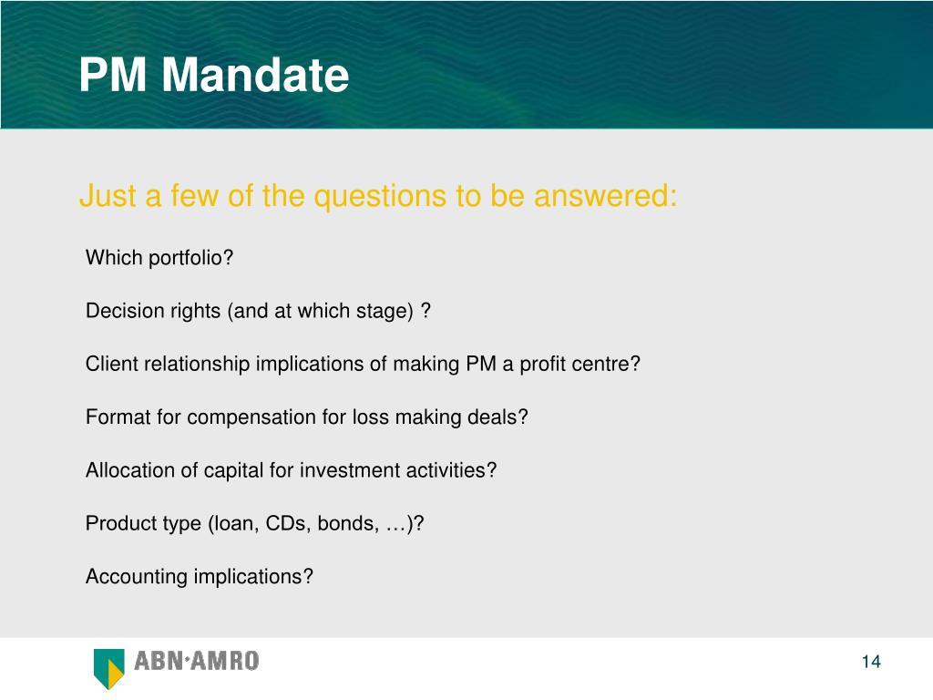 PM Mandate