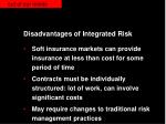 disadvantages of integrated risk