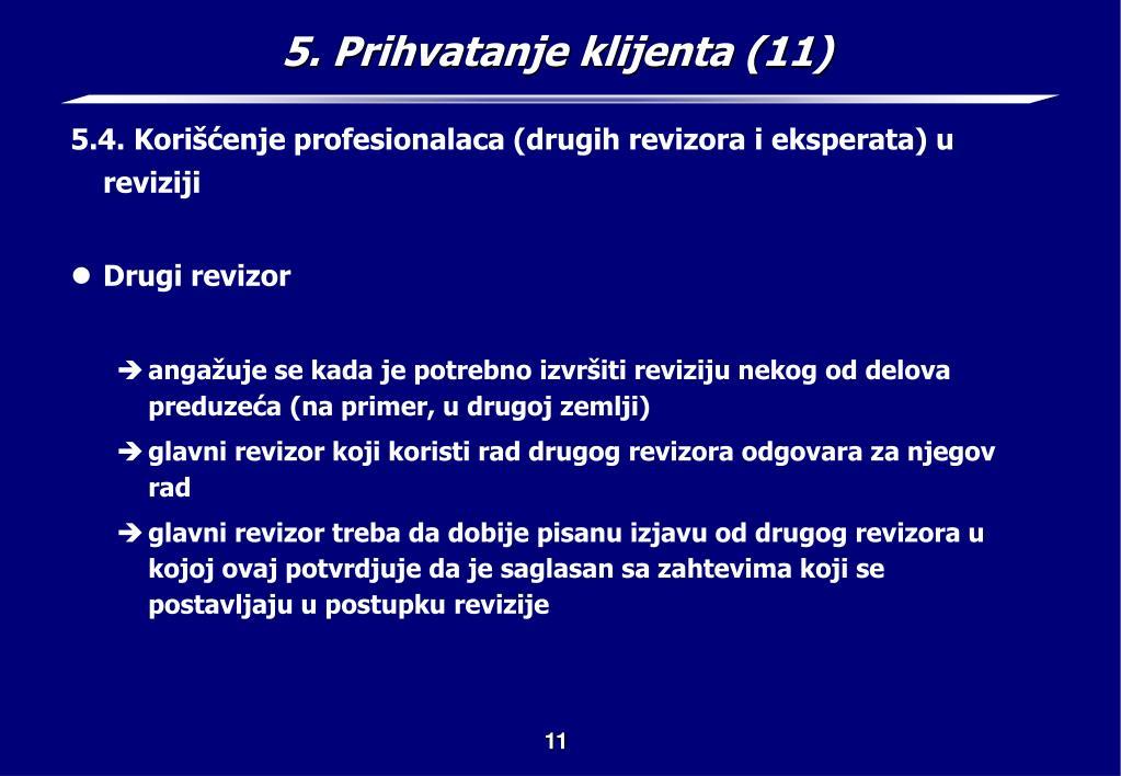 5. Prihvatanje klijenta (11)