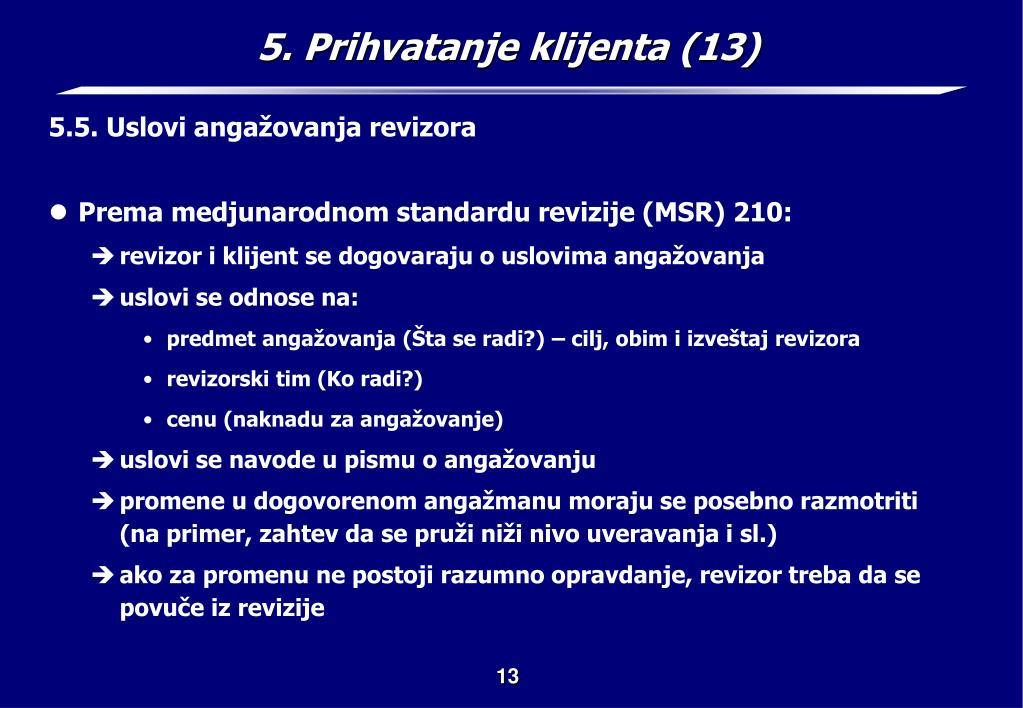 5. Prihvatanje klijenta (13)