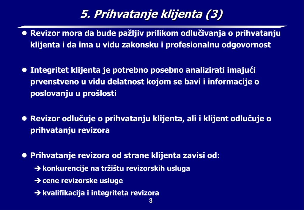 5. Prihvatanje klijenta (3)