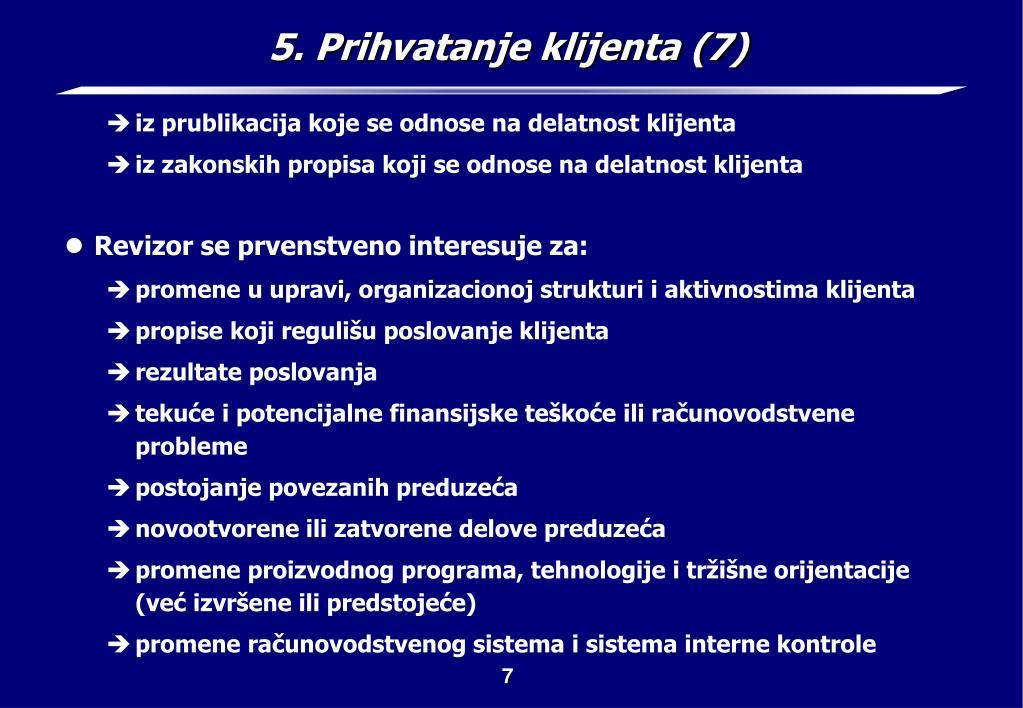 5. Prihvatanje klijenta (7)