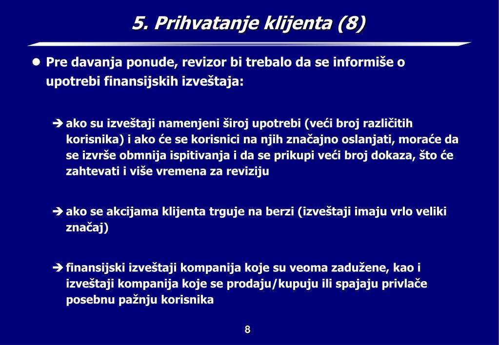 5. Prihvatanje klijenta (8)