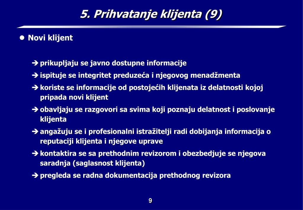 5. Prihvatanje klijenta (9)