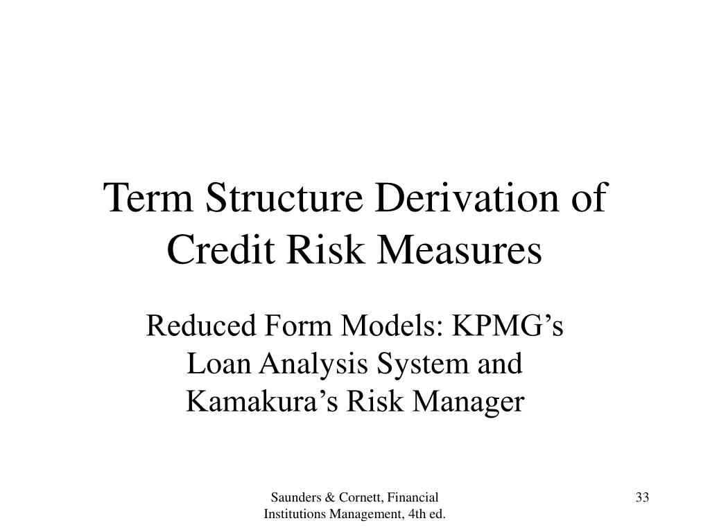 Term Structure Derivation of Credit Risk Measures