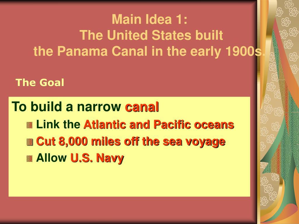 Main Idea 1:
