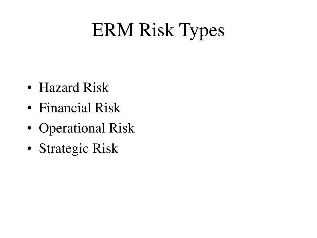 ERM Risk Types