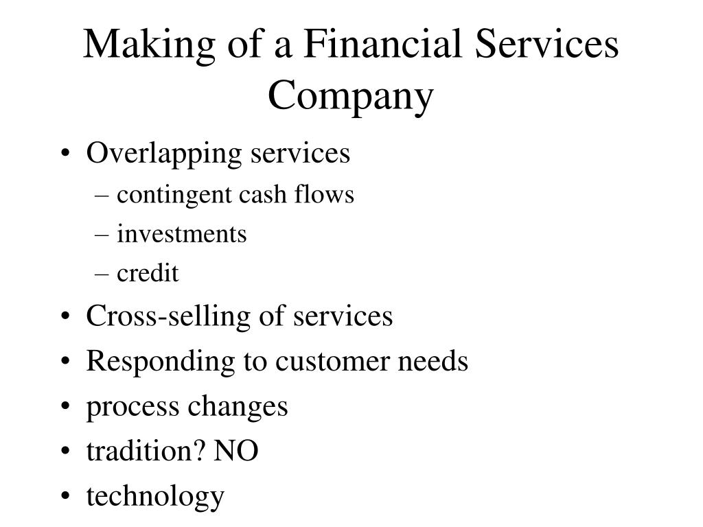 Making of a Financial Services Company