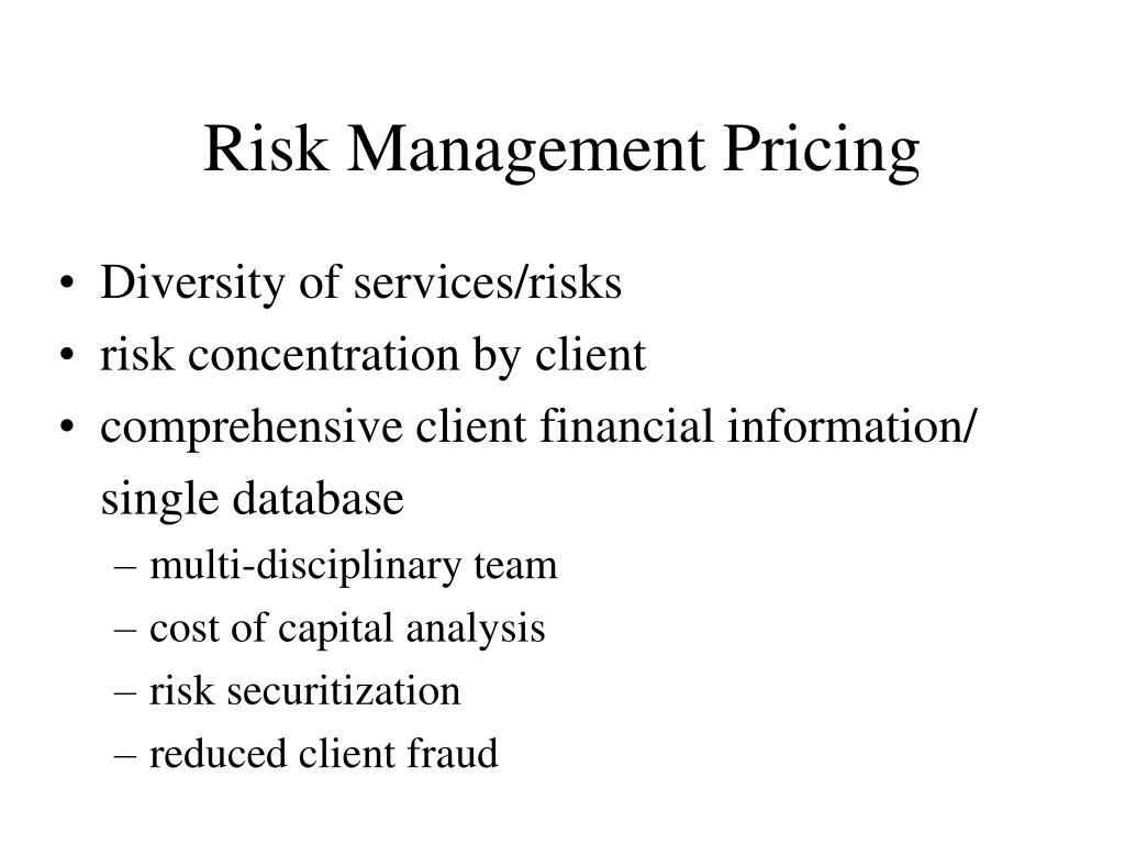 Risk Management Pricing