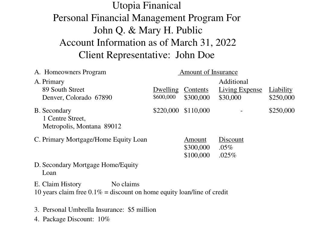 Utopia Finanical