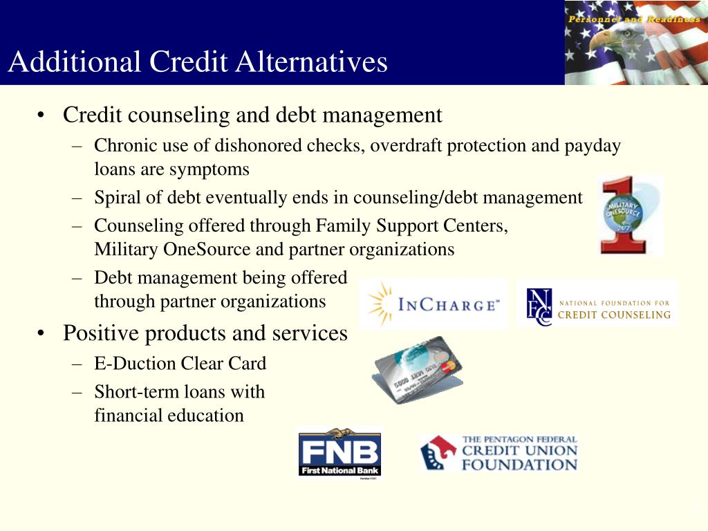 Credit counseling and debt management