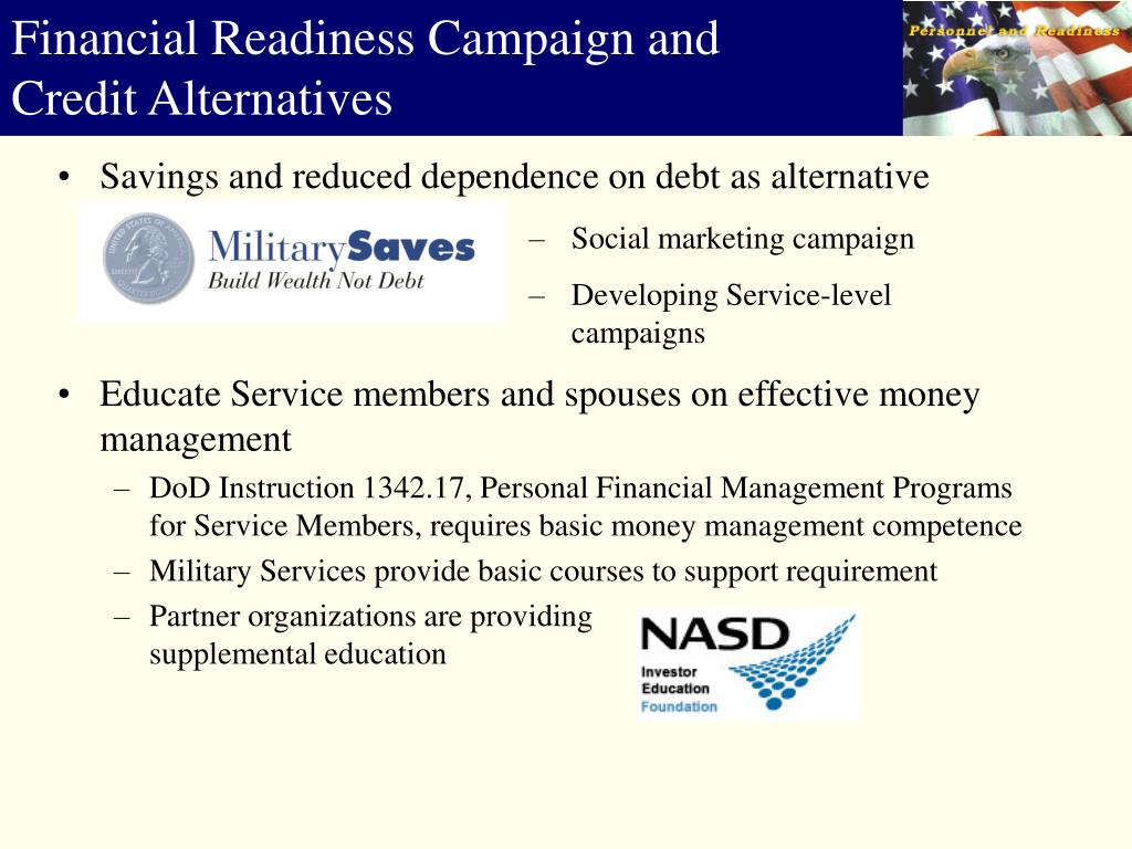 Savings and reduced dependence on debt as alternative