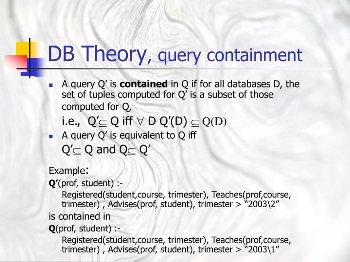 A query Q' is