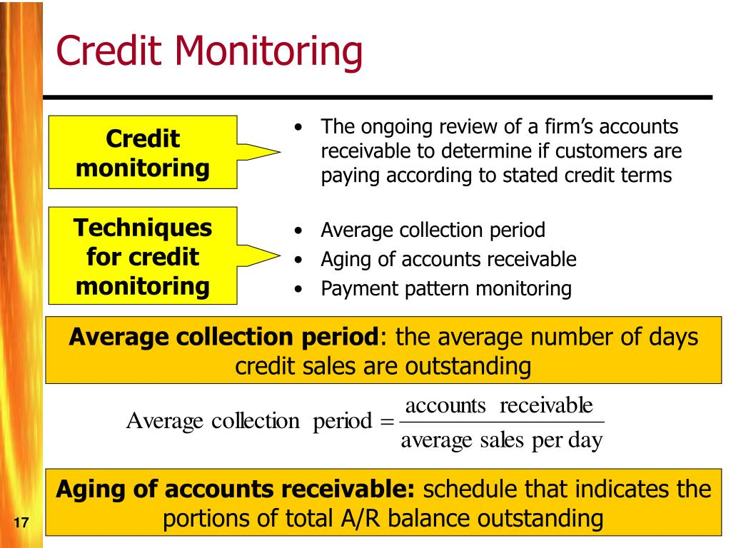 The ongoing review of a firm's accounts receivable to determine if customers are paying according to stated credit terms