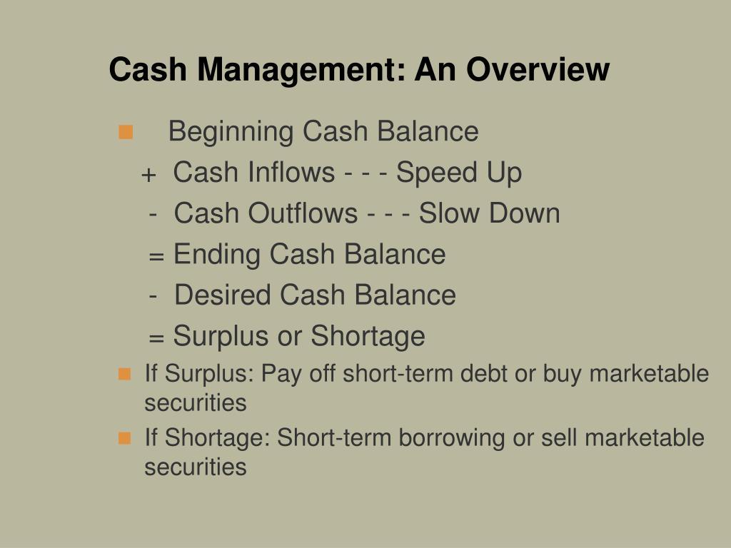 Cash Management: An Overview