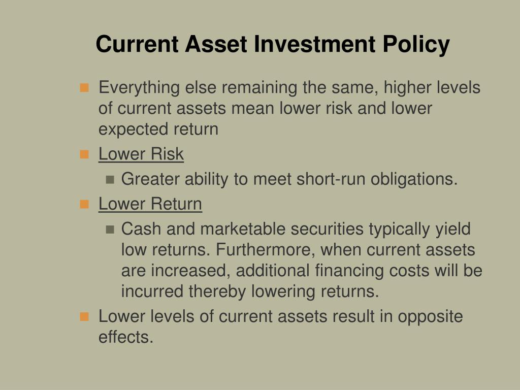 Current Asset Investment Policy