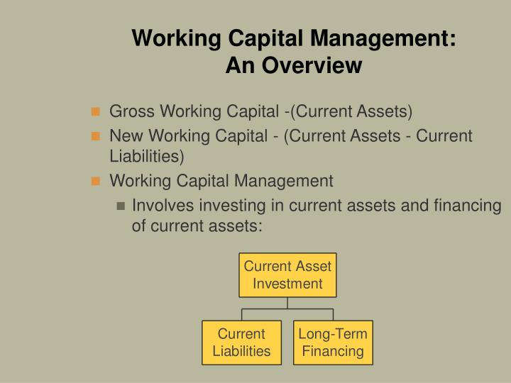 Working capital management an overview