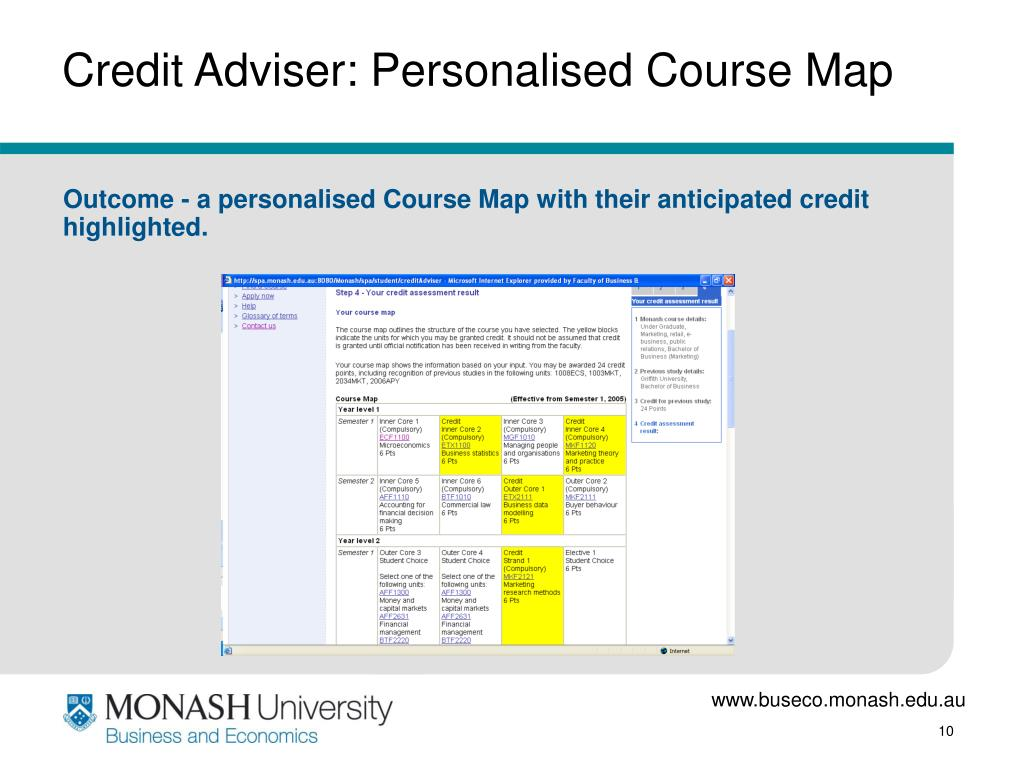 Credit Adviser: Personalised Course Map
