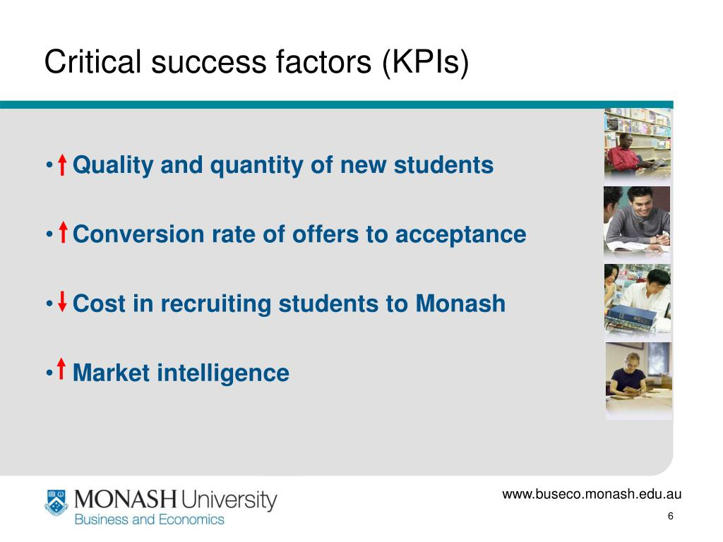 Critical success factors (KPIs)