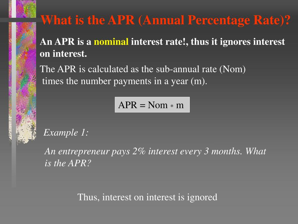 What is the APR (Annual Percentage Rate)?