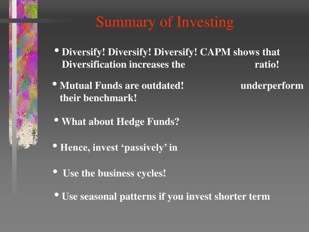 Summary of Investing