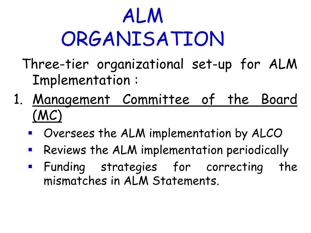 ALM ORGANISATION