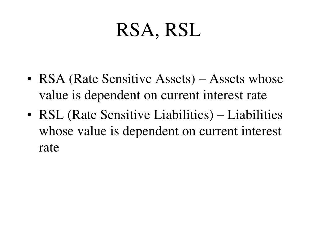 RSA, RSL