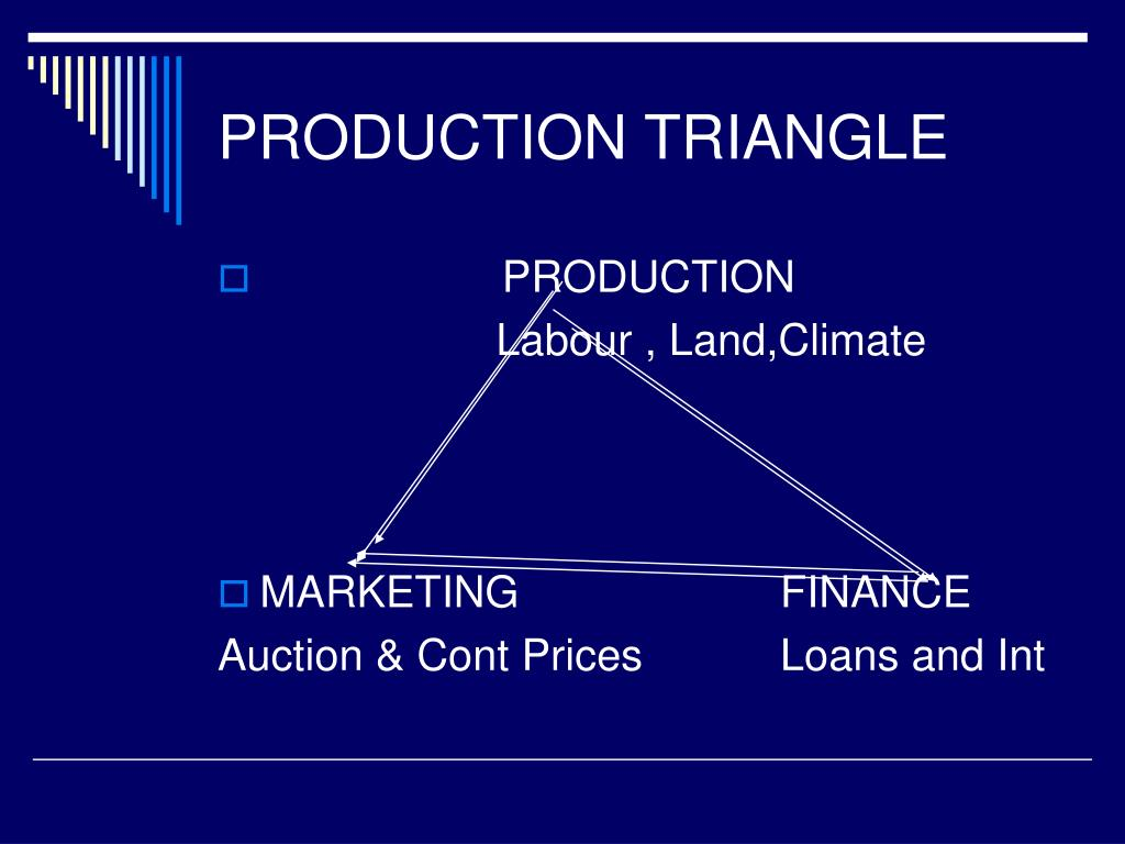 PRODUCTION TRIANGLE