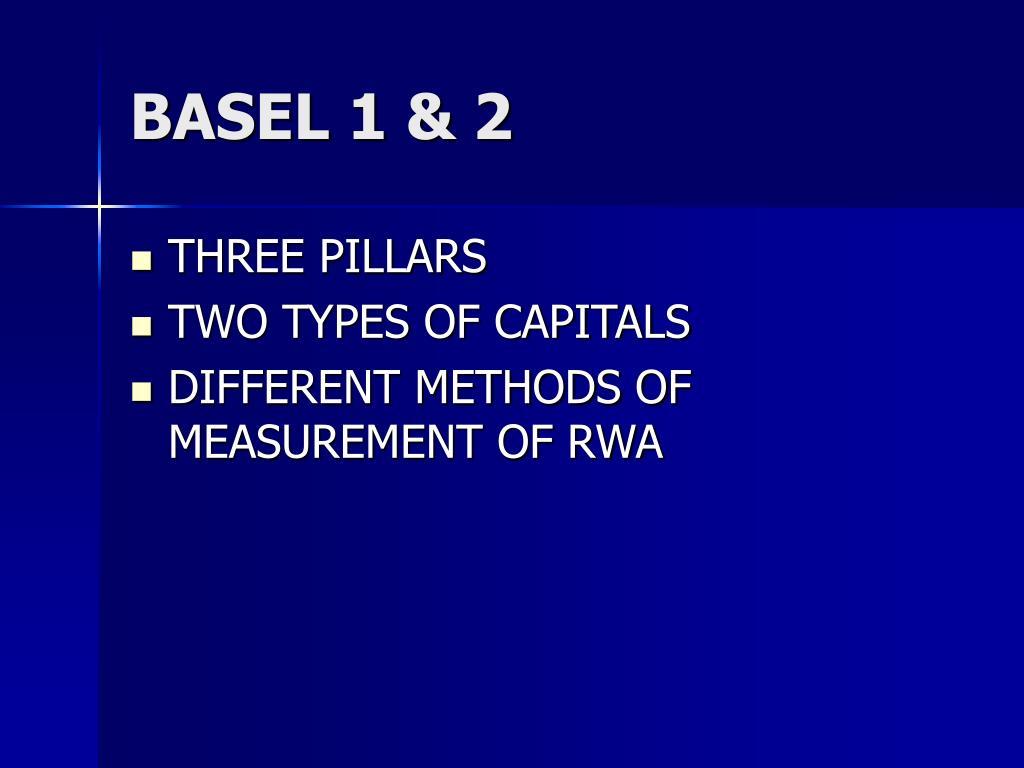 BASEL 1 & 2