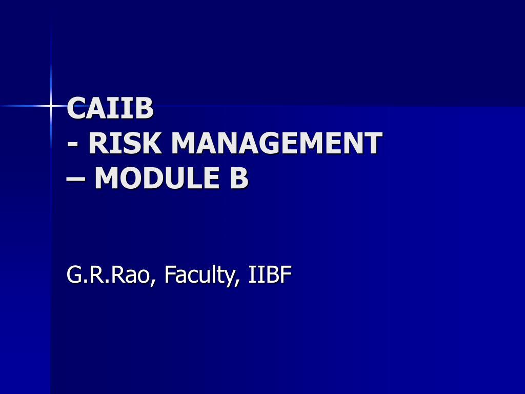 caiib risk management module b