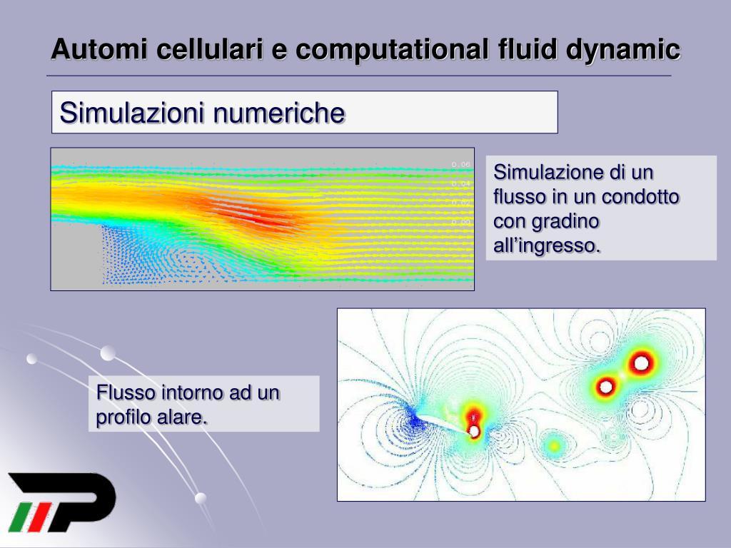 Automi cellulari e computational fluid dynamic