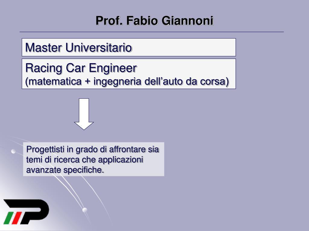 Prof. Fabio Giannoni
