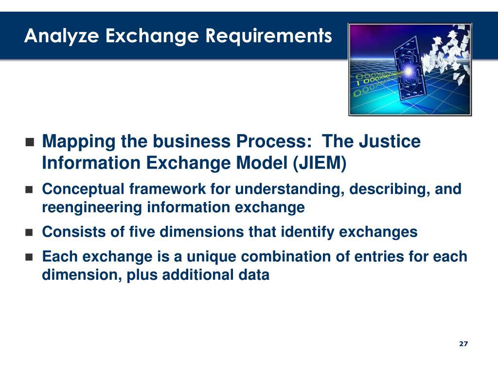 Analyze Exchange Requirements