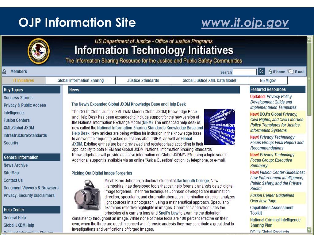OJP Information Site