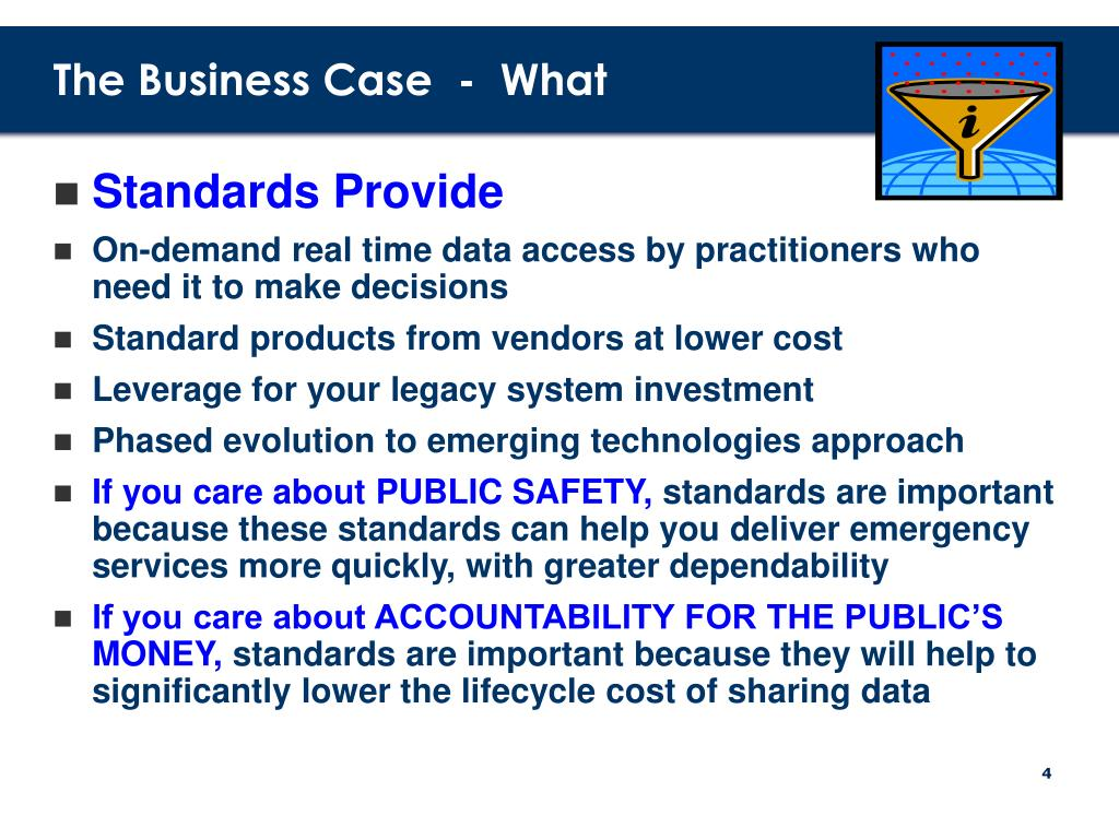 The Business Case  -  What