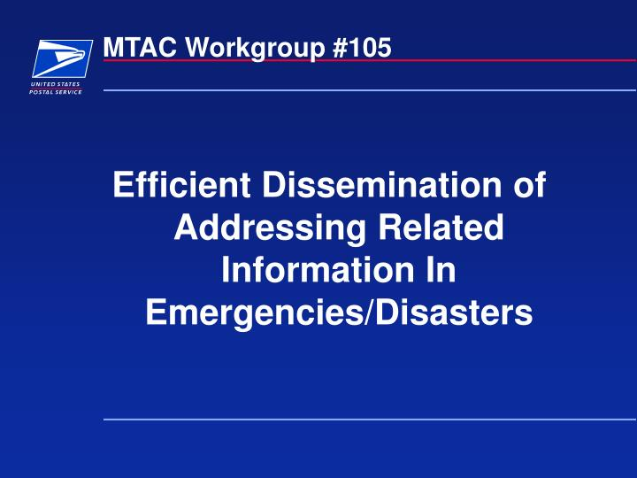 Mtac workgroup 105