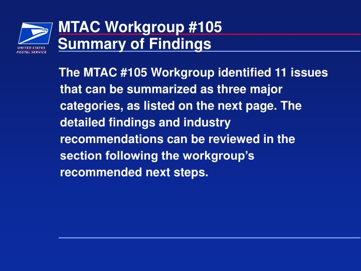 Mtac workgroup 1053
