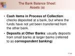 the bank balance sheet assets a20