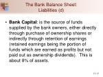 the bank balance sheet liabilities d
