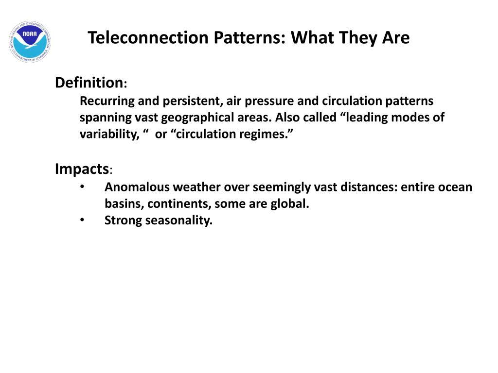 teleconnection patterns essay 1 explain how observed teleconnection patterns can help in the preparation of a seasonal weather forecast climate teleconnection is used for long rang climate prediction.