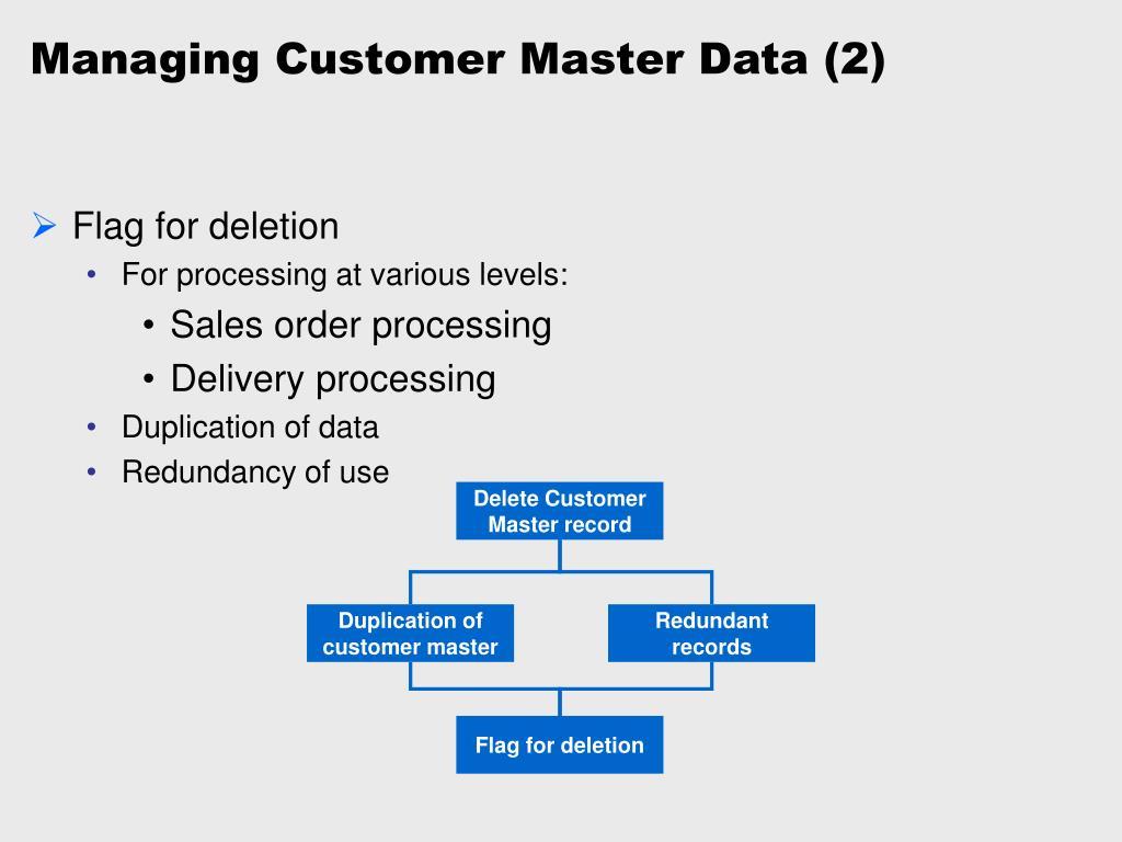 Managing Customer Master Data (2)