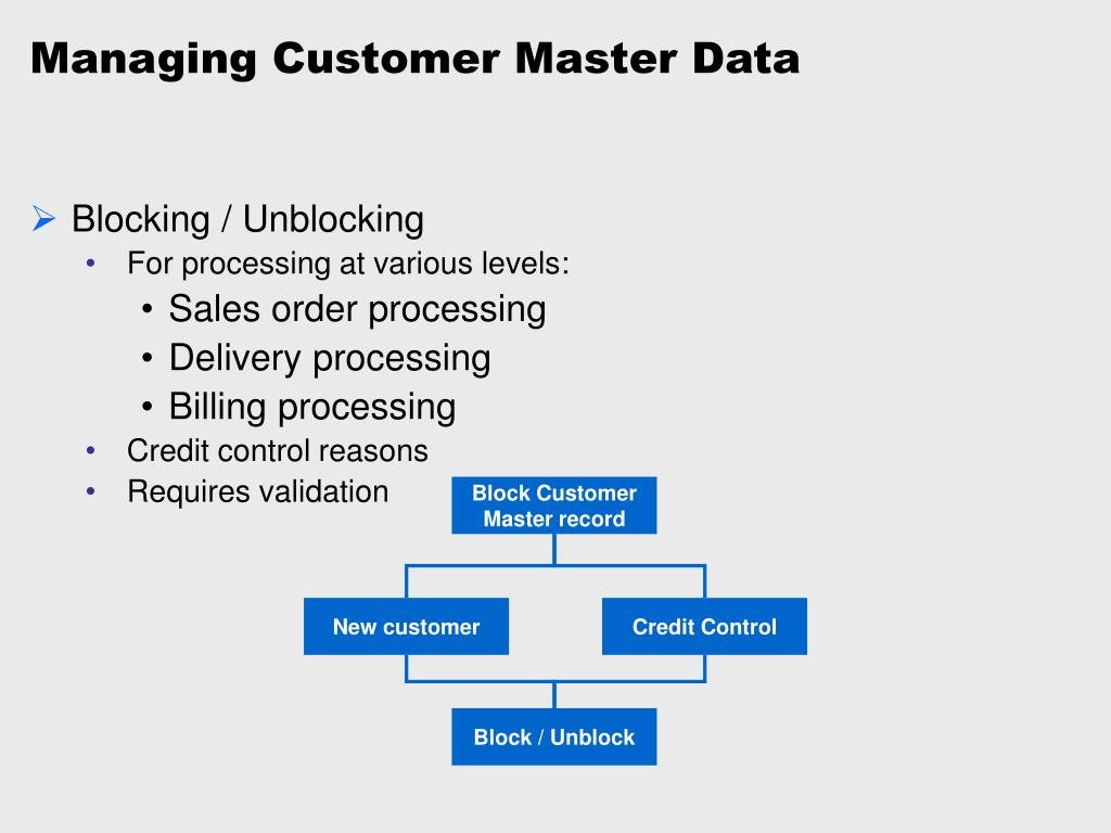 Managing Customer Master Data