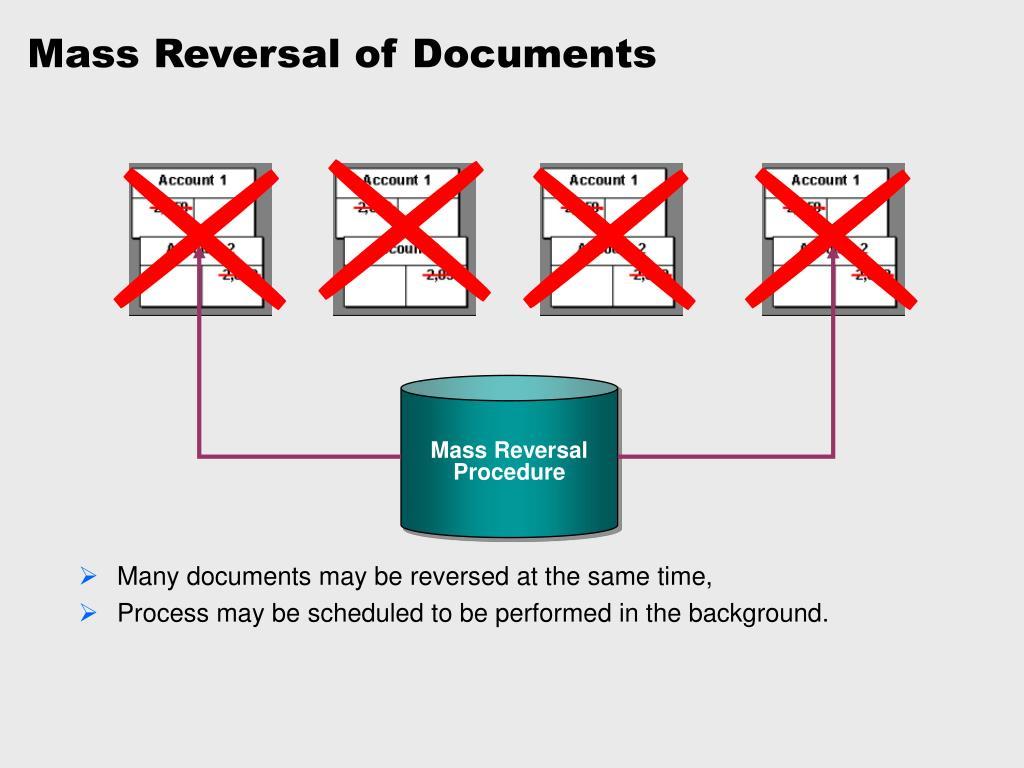 Mass Reversal of Documents