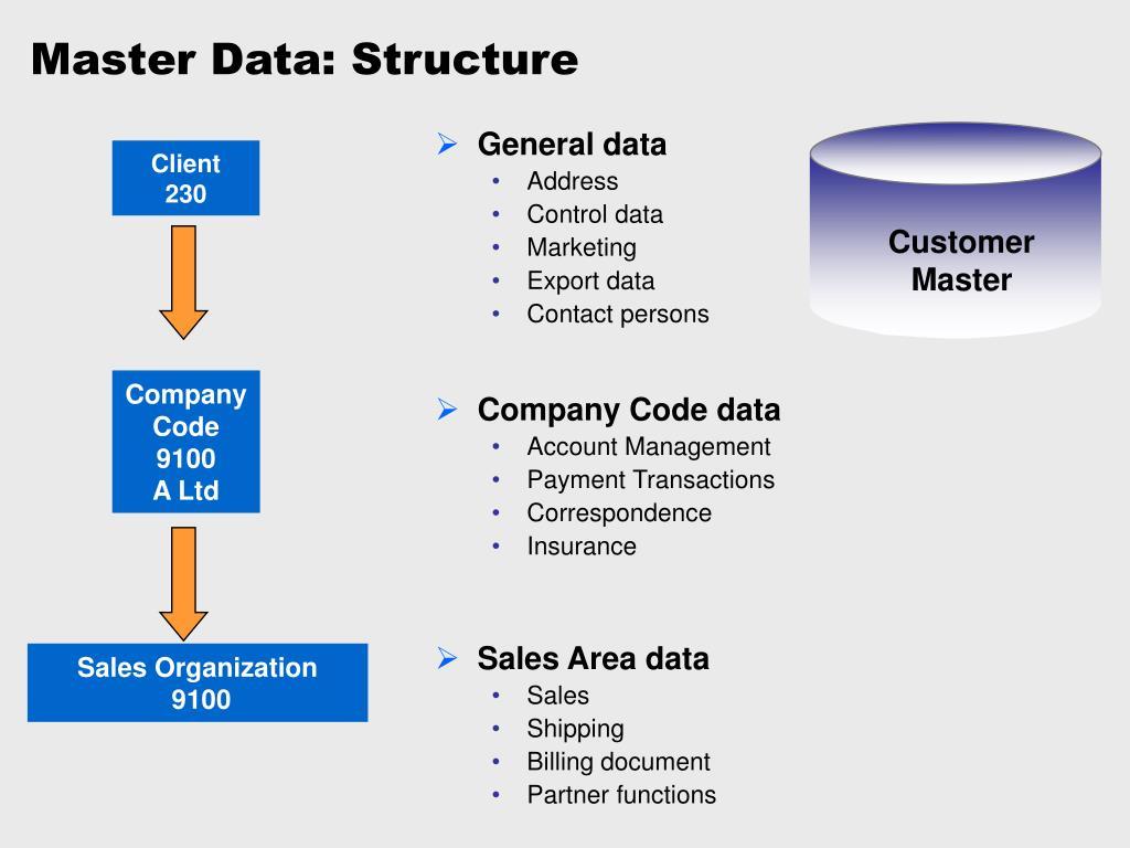 Master Data: Structure