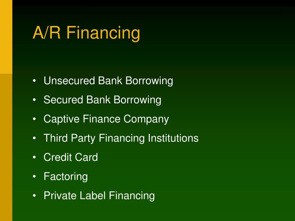 A/R Financing