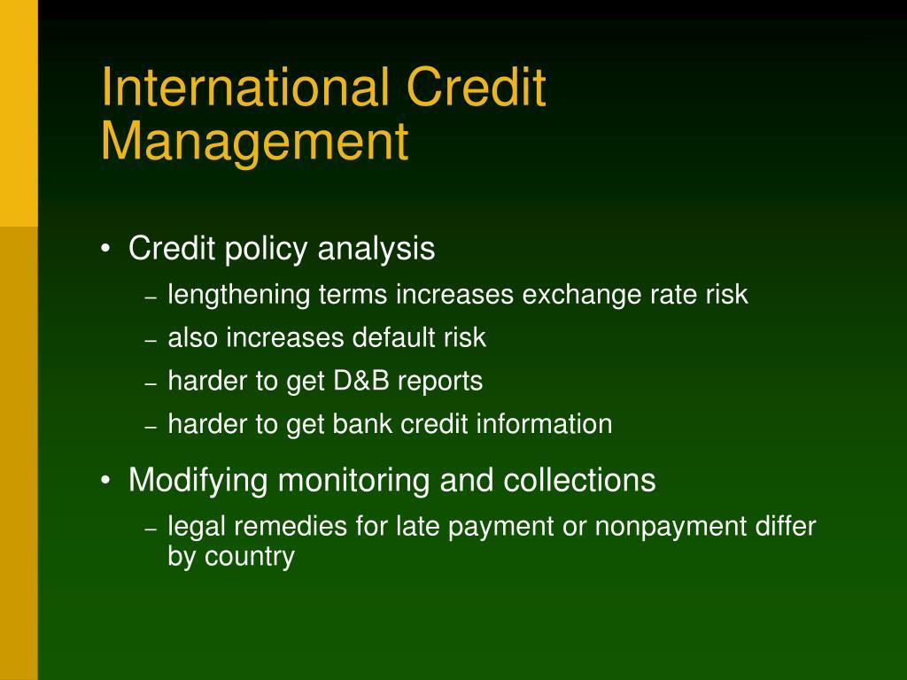 International Credit Management