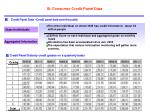 iii consumer credit panel data