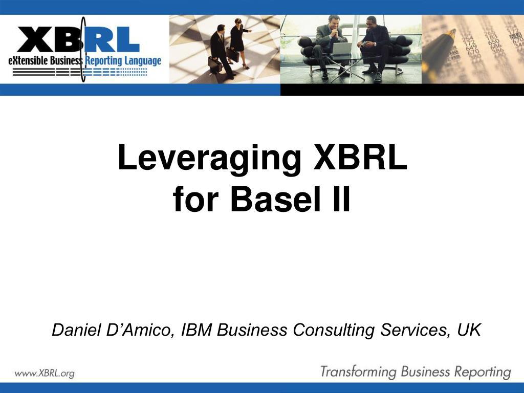 Leveraging XBRL