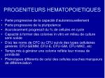 progeniteurs hematopoietiques