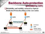 backbone auto protection provided by cht